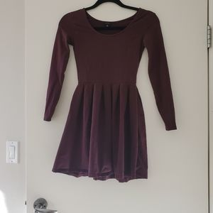 Maroon dress - XS